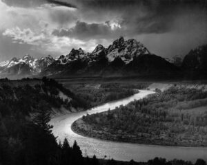 Ansel Adams Tetons and the Snake River